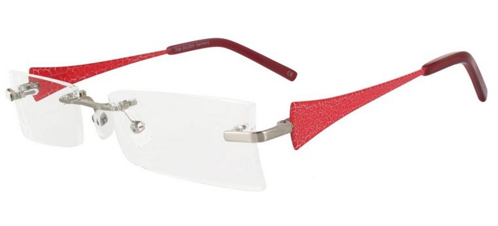 lunettes de vue ExperOptic Malaga Argent Fraise