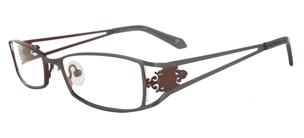 lunettes de vue ExperOptic Antoinette Marron et gris