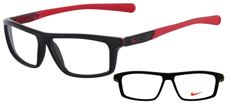 lunettes de vue Nike NI7085-001 Noir rouge