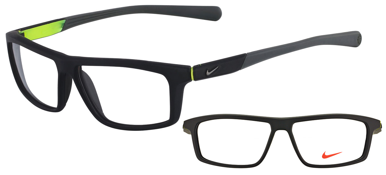 fae5aede9a lunettes de vue Nike NI7085-005 Noir Gris