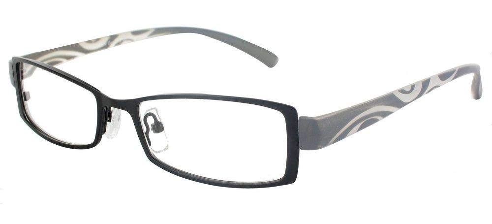 lunettes de vue ExperOptic Tattoo Noir Gris souris