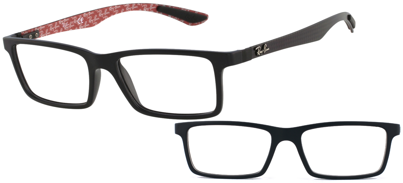 lunettes de vue Ray Ban RX8901 2000 5317 Noir brillant Carbone