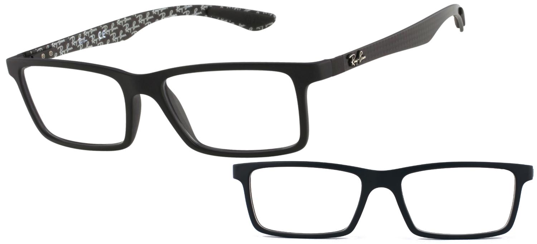 lunettes de vue Ray Ban RX8901 5263 5517 Noir mat Carbone