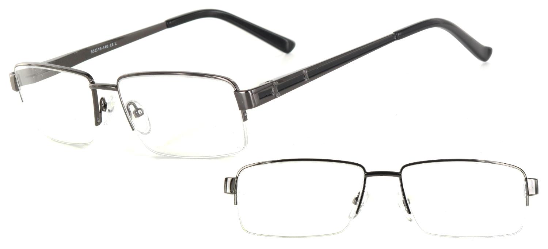 lunettes de vue ExperOptic Londres Acier brillant Noir