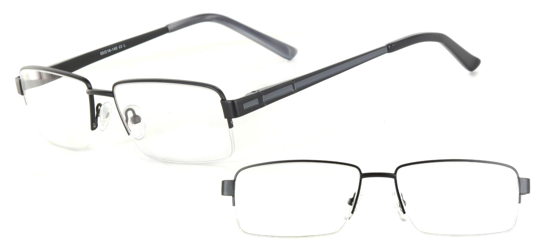 lunettes de vue ExperOptic Londres Noir Gris