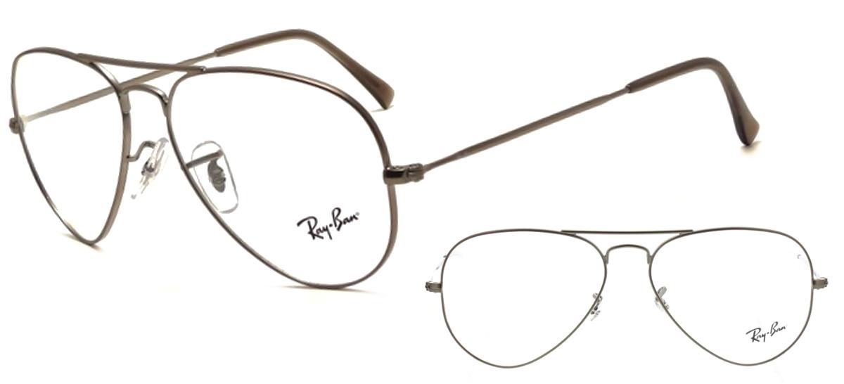 lunettes de vue Ray-Ban Aviator RX6489-2502 Gun Acier