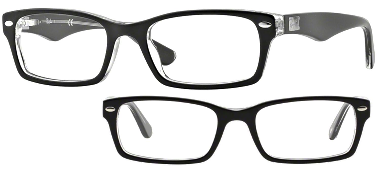 lunettes de vue Ray-Ban RX5206 2034 Noir Cristal