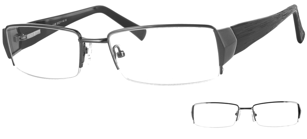 lunettes de vue ExperOptic Hastings Argent brillant Noir