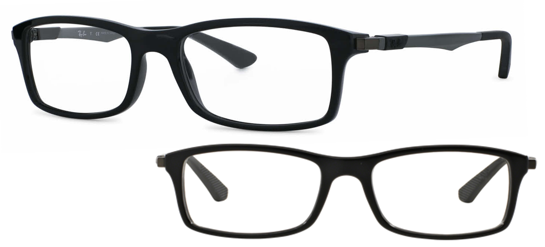 lunettes de vue Ray-Ban RX7017-2000 noir brillant