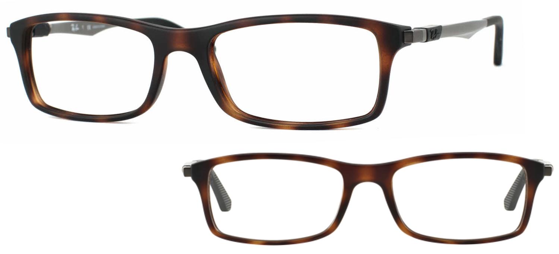 lunettes de vue Ray-Ban RX7017-5200 Havane mat