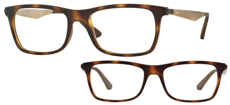 lunettes de vue Ray-Ban RX7062-5200 Havane mat