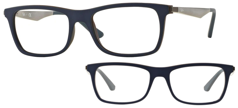 lunettes de vue Ray-Ban RX7062-5575 Bleu sur marron