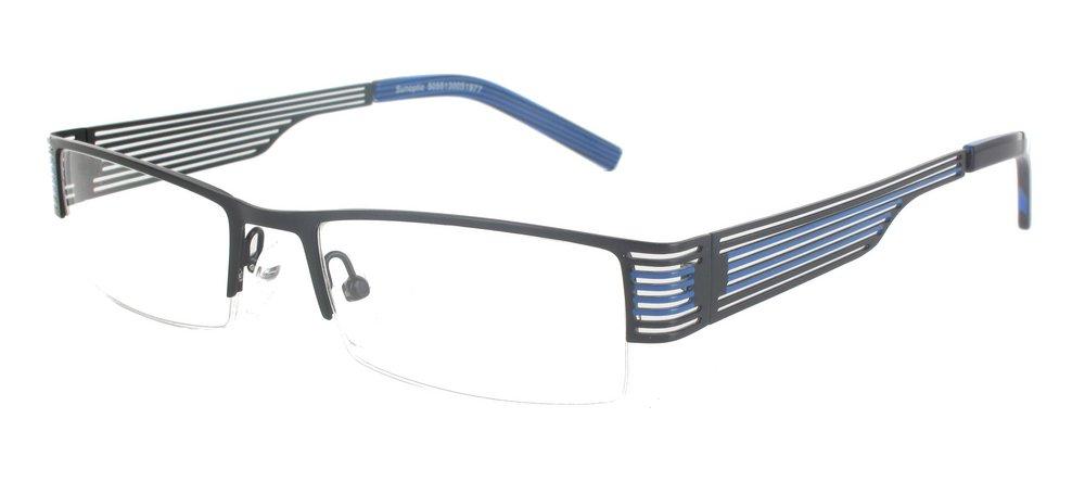 lunettes de vue ExperOptic Pieride Noir Bleu