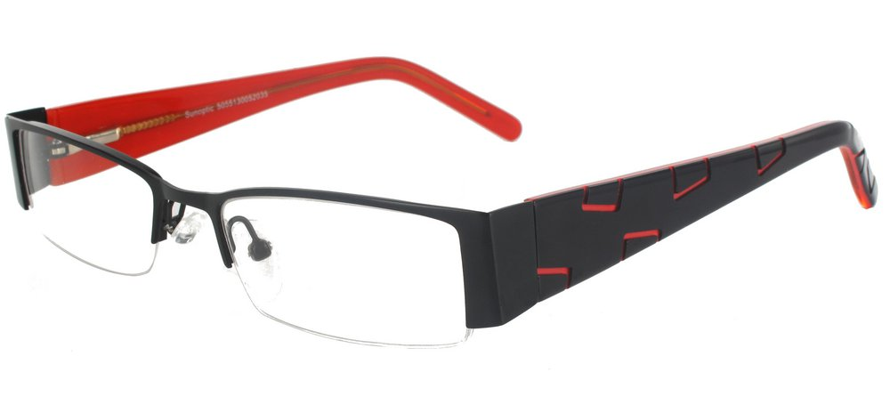 lunettes de vue ExperOptic Alava Noir Corail