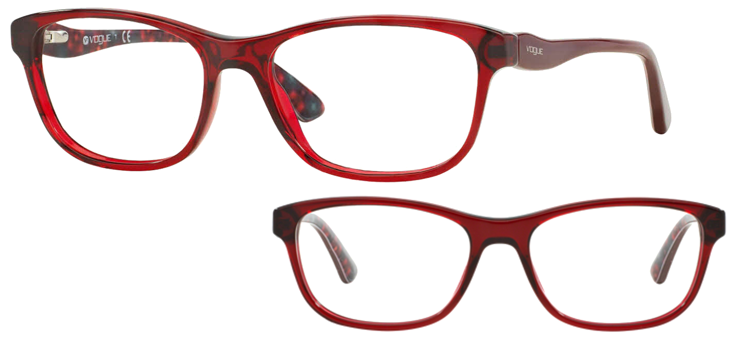 Vogue VO2908-2257 Bordeaux translucide