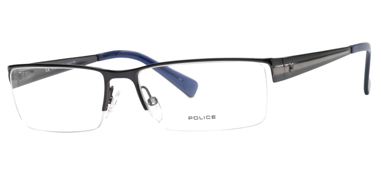 lunettes de vue Police V8225-08GG Bleu Gun T57
