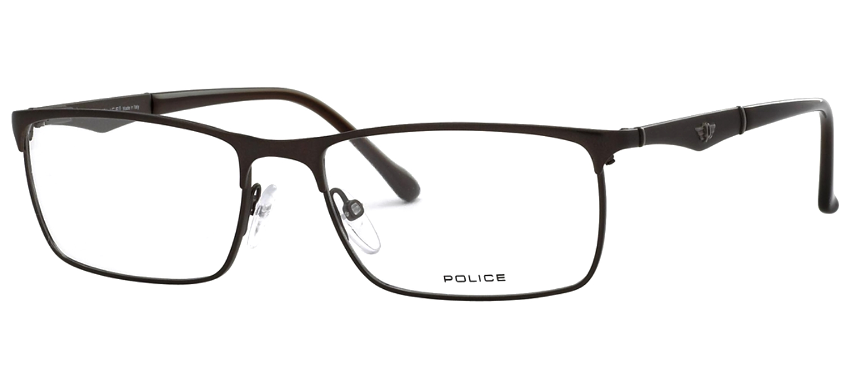 lunettes de vue Police V8726-0S19 Marron mat T55