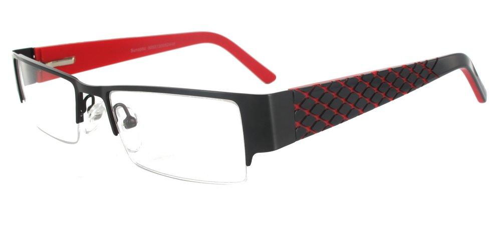 lunettes de vue ExperOptic Kirgili Noir et Rouge