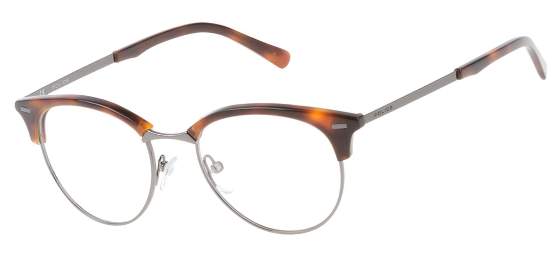 lunettes de vue Police VPL136-0752 T49 Havane Gun PROMO T49