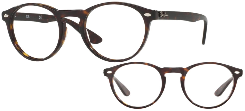 lunettes de vue Ray-Ban RX5283-2012 T49 Havane sombre