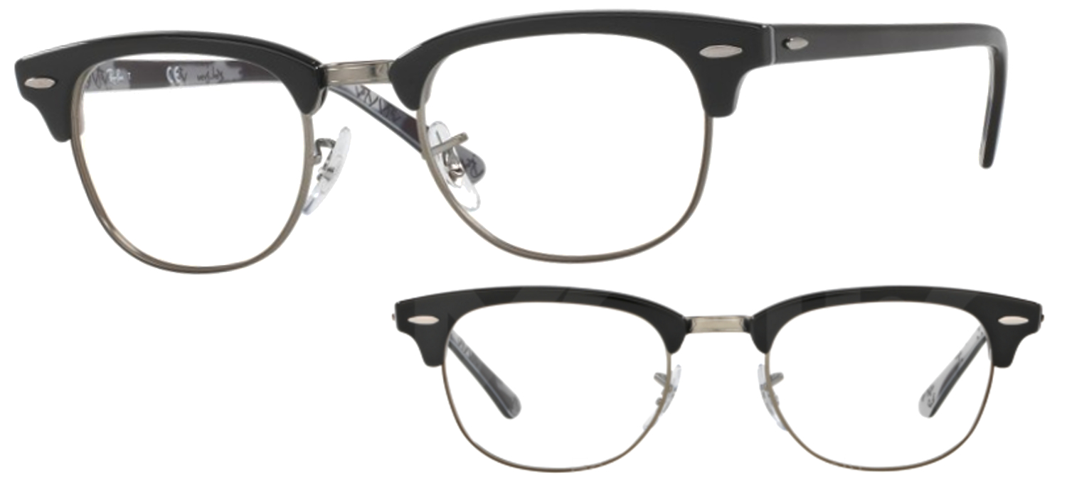 Lunettes Ray-Ban RX5154 5649 Noir et camouflage Clubmaster c344befdc9cb