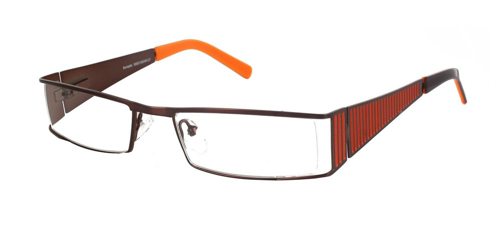 Lunettes color�es Bridge Caf� et Orange