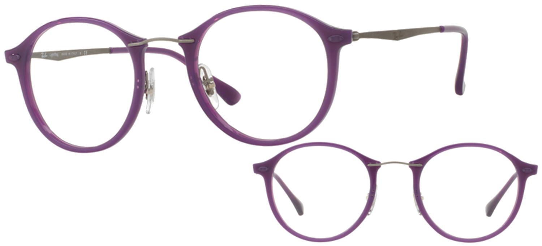 d8d32d5880c479 Lunettes Ray-Ban RX7073-5617 T49 Violet brillant