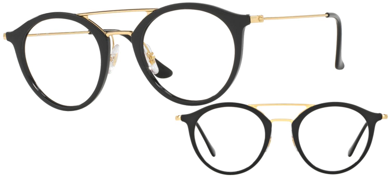 lunettes ray ban rx7097 2000 t49 noir brillant. Black Bedroom Furniture Sets. Home Design Ideas