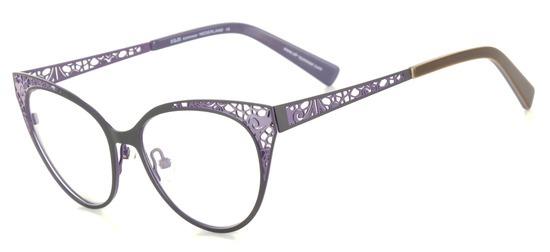 lunettes de vue ExperOptic Lutine Prune lavande