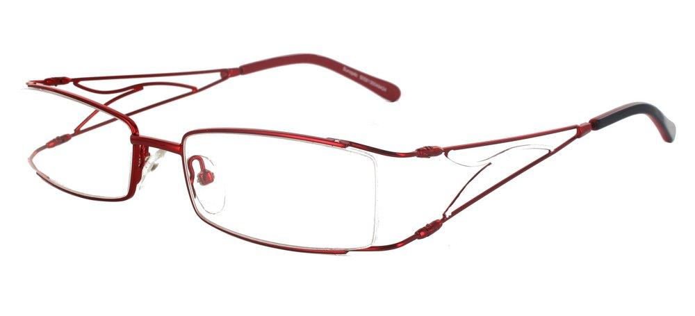 lunettes de vue ExperOptic Linotte Bourgogne et Blanc