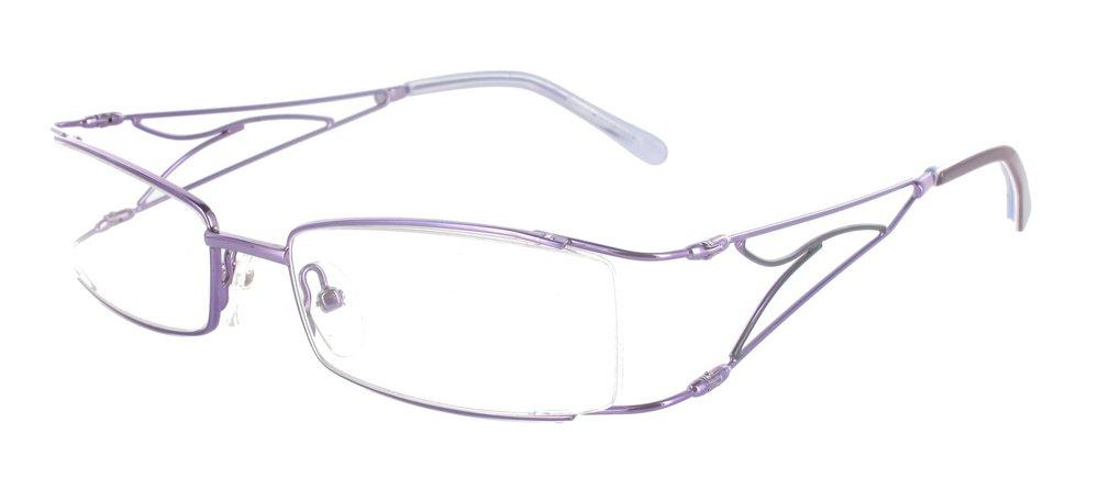 lunettes de vue ExperOptic Linotte Amethyste et Noir