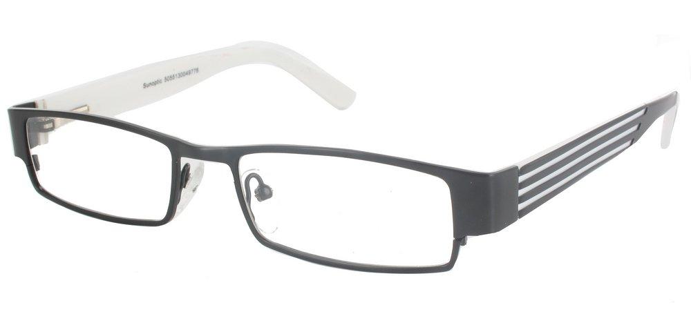 lunettes de vue ExperOptic London Noir Blanc