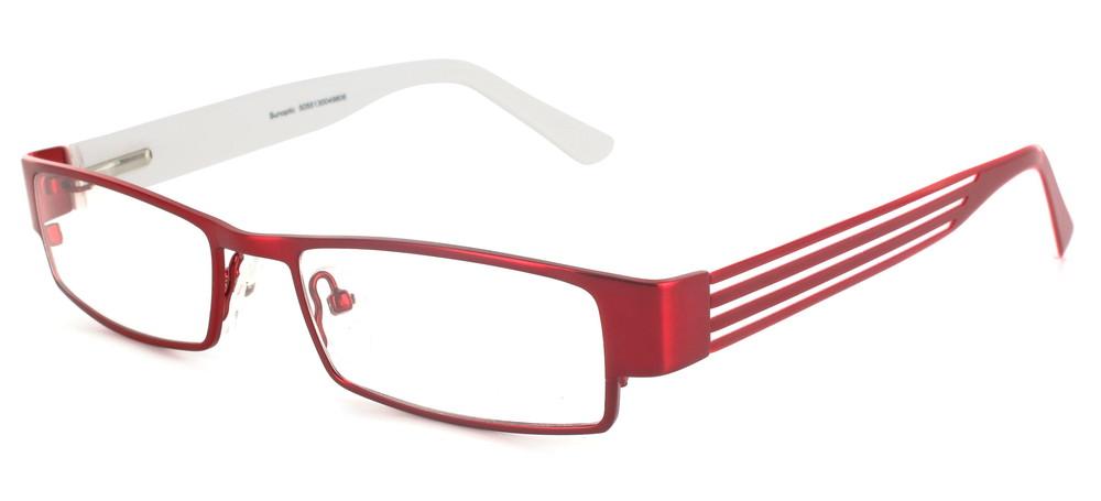 lunettes de vue ExperOptic London Bourgogne Blanc