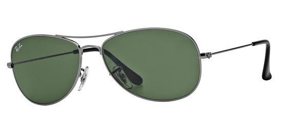lunettes de soleil Ray-Ban RB3362-004 T56 Cockpit Gun acier