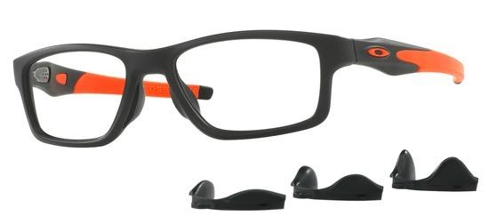 lunettes de vue Oakley OX8090-01 T55 Crosslink Trubridge Noir Satin