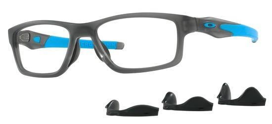 lunettes de vue Oakley OX8090-02 T55 Crosslink Trubridge Gris fumee