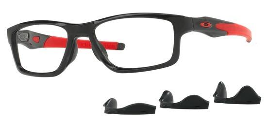 lunettes de vue Oakley OX8090-03 T55 Crosslink Trubridge Noir Brillant