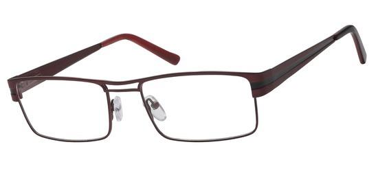 lunettes de vue ExperOptic Stuttgart Bordeaux noir