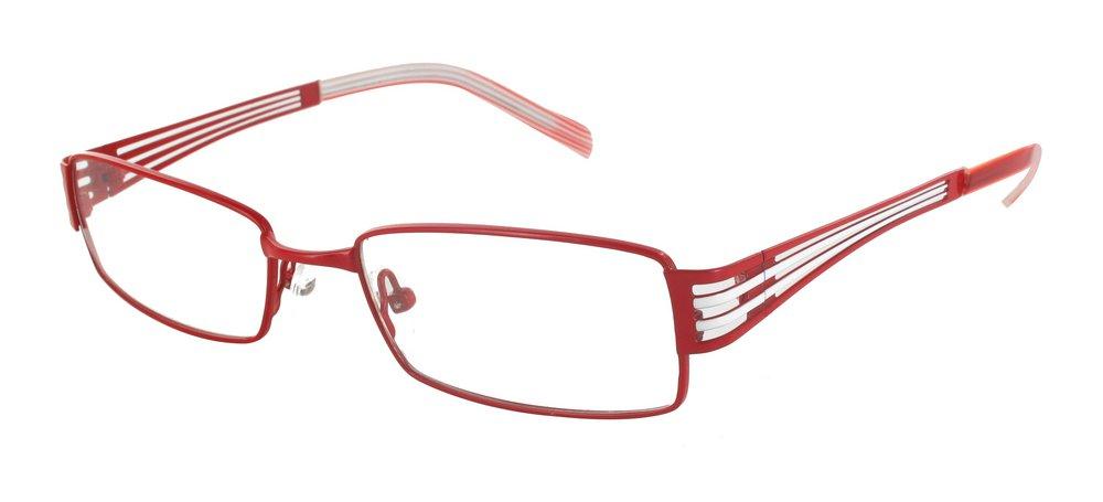 lunettes de vue ExperOptic Lisa Rouge Blanc