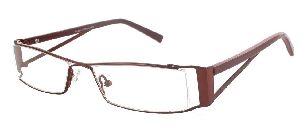 lunettes de vue ExperOptic Jamie Bourgogne fonce