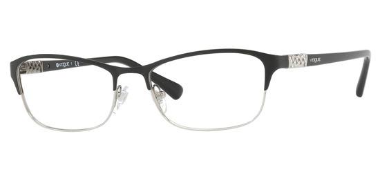 lunettes de vue Vogue VO4057B-352 Noir Argent