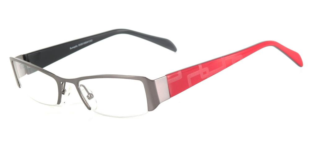 lunettes de vue ExperOptic Subway Gun mat et rouge