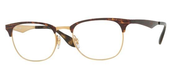 lunettes de vue Ray-Ban RX6346-2917 Or et Havane