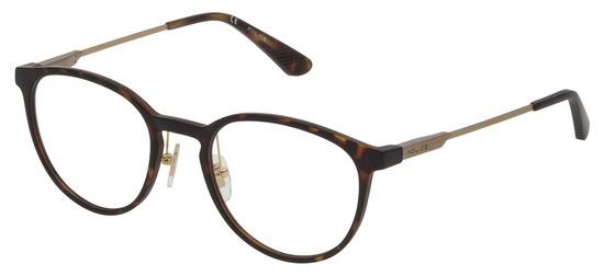 lunettes de vue Police VPL695-0878 Havane Mat Bronze