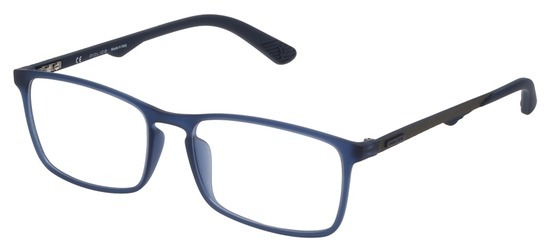 lunettes de vue Police VPL694-092E Bleu Mat Gomme Carbone
