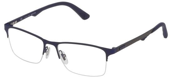 lunettes de vue Police VPL693-0475 Bleu Mat Carbone