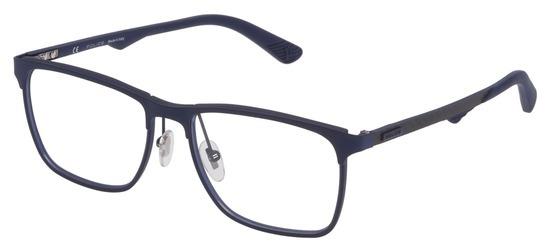 lunettes de vue Police VPL692-0475 Bleu Mat Carbone