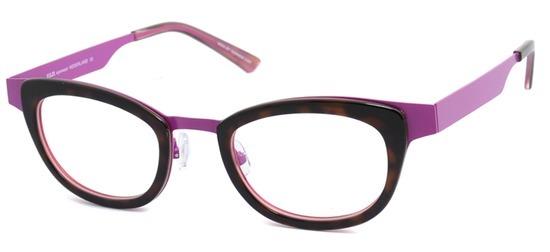 lunettes de vue ExperOptic Rubelle Mauve Ecaille