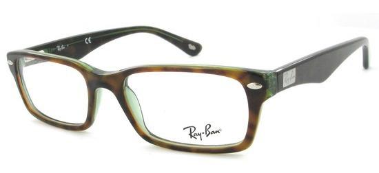 lunettes de vue Ray-Ban RX5206 2445 Havane Vert PROMO T54