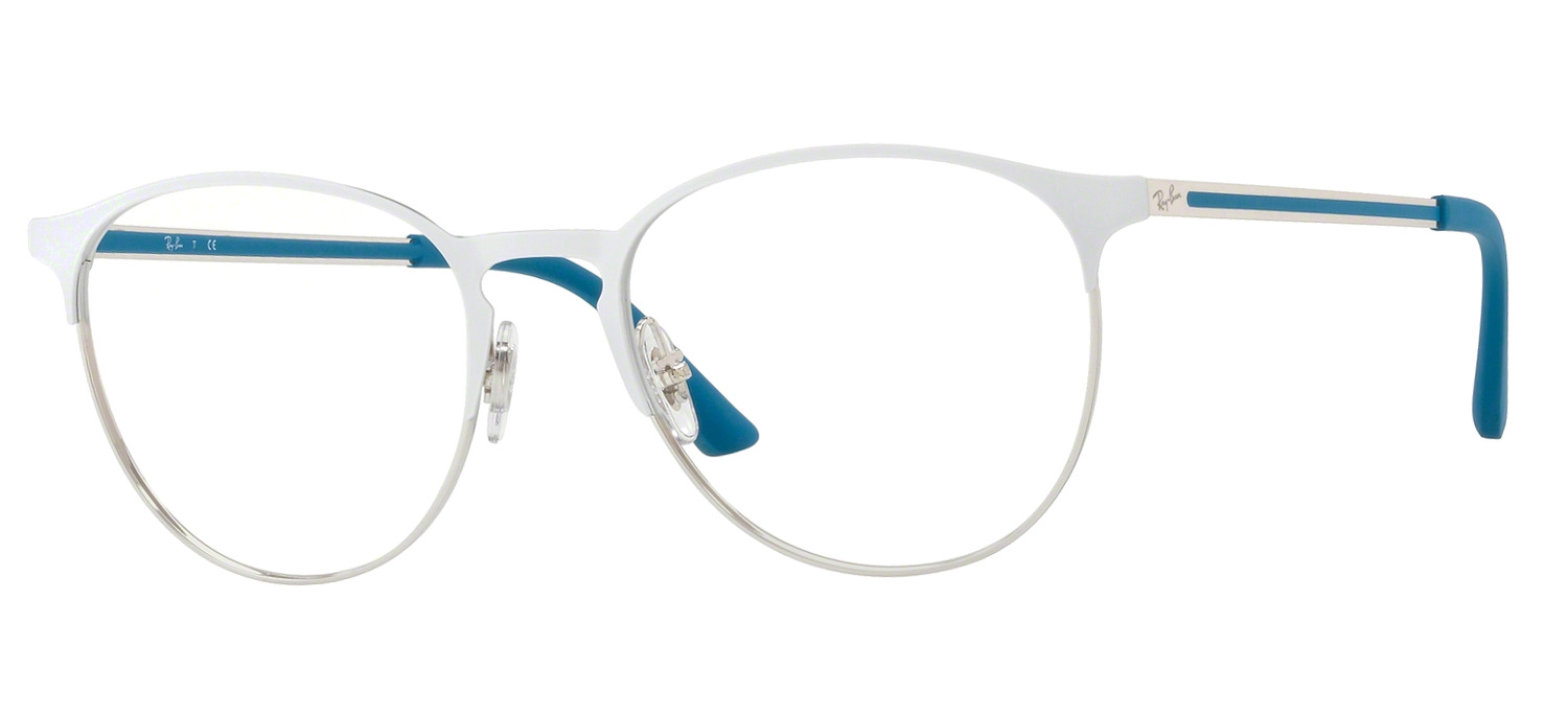 Lunettes Ray-Ban RX6375-2948 Blanc Argent PROMO T53 aa6f0181c8b6